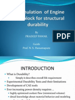 FE  Simulation  of Engine head block for structural durability