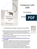 Presynthese Etude Tendances Luxe 2009 by Duringer