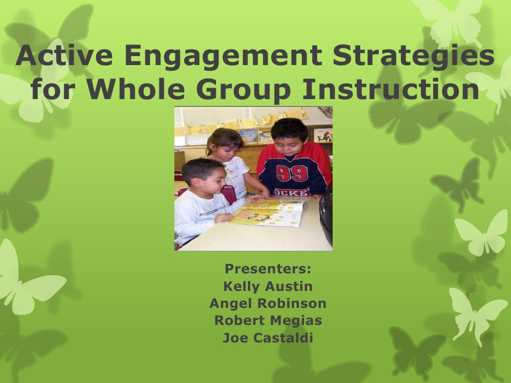Eto Active Engagement Strategies Ppt Classroom Management Classroom