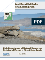 Great Salt Lake Mineral Leasing Plan (Final Draft)