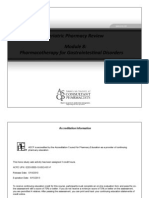Module 8 - Pharmacotherapy for Gastrointestinal Disorders