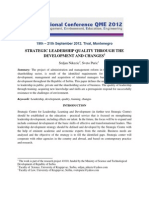 Strategic Leadership Quality Through the Development and Changes (2)