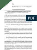 Tutela processual dos direitos humanos nas relações de trabalho - Revista Jus Navigandi - Doutrina e Peças