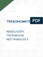 TRIGONOMETRÍA. Resolución triángulos rectángulos Scribd