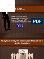 Analytical Study On Employees' Motivation (Presentation)