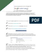 Simplificando a consulta de glossários com o Google CSE