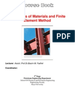 Course Book Mechanics of Materials and FEA Aa