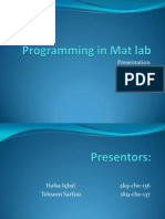 Programming in Mat Lab
