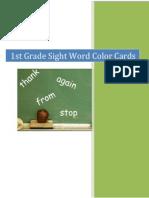 1sr Grade Sight Wor dColor Cards