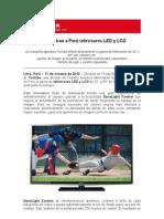 Toshiba trae a Perú televisores LED y LCD