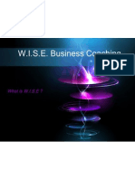 Wise Powerpoint PR Presentation Logo Client Services