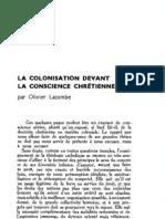 Esprit 6 - 16 - 193303 - Lacombe, Olivier - La Colonisation devant la conscience chrétienne