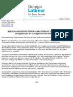NYS Nurses Association Endorses George Latimer for State Senate