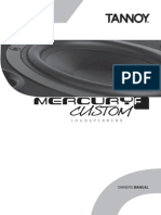 Tannoy Mercury F Custom Manual