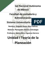 Unidad 01 TEORÍA DE LA PLANEACIÓN