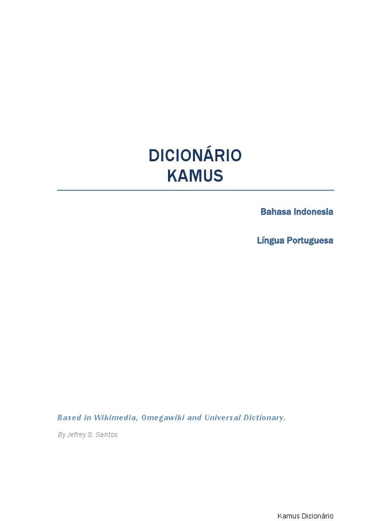 Dicionário Kamus Brazilian Portuguese Bahasa Indonesia