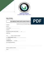 Arbitros - Modelo Del Informe Por Una Tarjeta Roja