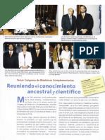 Tercer Congreso Internacional de Medicinas Complementarias Reuniendo el Conocimiento Ancestral y Cientifico