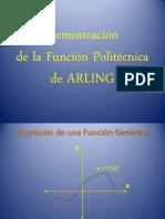Formula Politecnica de ARLING Para Basura = 0