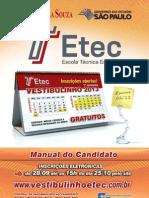ManualCandidato Vestibulinho ETEC SP