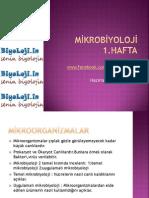 mikrobiyoloji 1.hafta ders notları