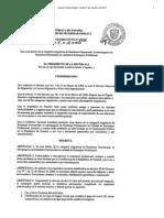 Decreto Ejecutivo 804 de 9 de Octubre de 2012 (Profesionales)