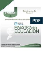 SEM 1 Ejemplo del Capítulo I de una tesis aprobada en UNIDEP  en plantilla pdf