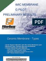 SiC Ceramic Membrane de-Oiling Pilot Prelimineary Results - PTAC 2009