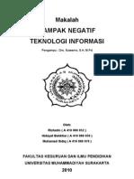 Dampak Negatif Teknologi Informasi