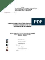GRUPO K, CAPACITACIÓN Y ACTUALIZACIÓN TECNOLÓGICA DIRIGIDO A LOS DOCENTES DE LA