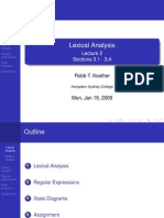 Lecture 2 - Lexical Analysis