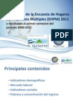 EHPM 2011 - Presentacion de Resultados