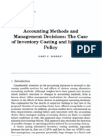Accounting Methods and Management Decisions; The Case of Inventory Costing & Inventory Policy-1980