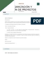 Organización y gestión de proyectos