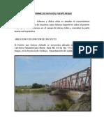 Informe de Visita Del Puente Reque