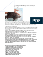 Analisis Usaha Produksi Pembesaran Ikan Kerapu Bebek