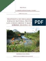PROPUESTA DE DECLARACIÓN DEL ESPACIO NATURAL PROTEGIDO DE LOS CURSOS MEDIO Y BAJO DEL RIU GIRONA (MARINA ALTA)