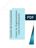 Gestión del Conocimiento - Como las organizaciones usan la información