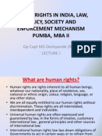 Human Rights in India Law Policy Society and Enforcement Mechanism