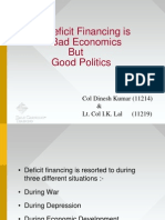 Deficit Financing is Bad Economics but Good Politics