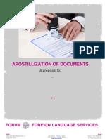 Generic Quotation FORUM - Legalization Service