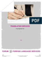 Generic Quotation FORUM - Translation Service