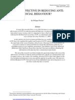 Fletcher is CCTV Effective in Reducing Anti-Social Behaviour IJC August 2011