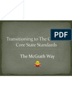 transitioning to the common core state standards