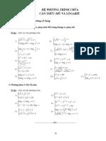 Chuyên đề 6. Hệ phương trình chứa căn thức - mũ - loggarit