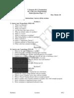 Java Model Question Paper – I