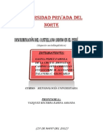 Discriminación del castellano andino