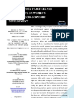 Discriminatory Practices and Their Effects on Women's Rights to Socio-Economic Development