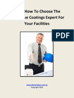 Choosing The Protective Coatings Specialist For Your Facilities