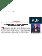 [2011-06-24] Le jury a voté pour revoir Sandrine Viglino